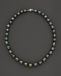 Bloomingdale's Tahitian Pearl And 14K White Gold Strand Necklace 18 No Color