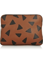 3.1 Phillip Lim 31 Minute Printed Leather Clutch Brown