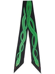 Rockins Snake Embroidered Scarf Green