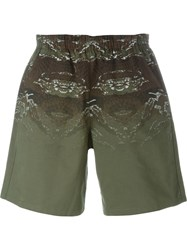 Marcelo Burlon County Of Milan 'Banes' Shorts Green
