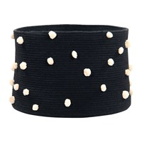 Lorena Canals Pebbles Cotton Basket Black
