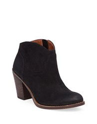 Lucky Brand Eller Leather Ankle Length Booties Black