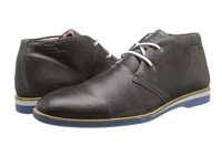 Type Z Kent Grey Leather Men's Lace Up Boots Gray