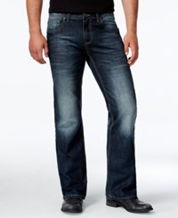 Inc International Concepts Men's Hunnam Relaxed Fit Dark Wash Jeans Only At Macy's