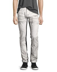Prps Demon Binary Slim Straight Jeans With Tuxedo Stripe White