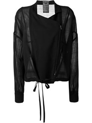 Ann Demeulemeester Sheer Sleeves Jacket Black