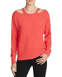 Lna Bolero Cutout Sweater Red