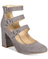 Esprit Lucy Block Heel Detailed Dress Pumps Light Grey