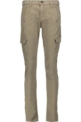 Rag And Bone Cotton Blend Twill Skinny Pants Army Green