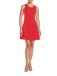 Marc New York Knit Fit And Flare Dress Hot Red