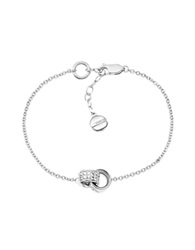 Emporio Armani Sterling Silver And Crystals Women's Bracelet