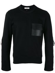 Valentino Bondage Detailed Sweatshirt Men Cotton Leather Polyamide L Black