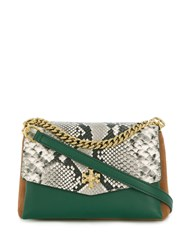 Tory Burch Contrast Panel Tote Bag Green