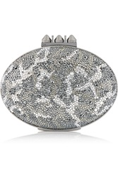 Christian Louboutin Mina Crystal Embellised Suede Clutch