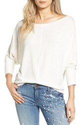 Project Social T Women's Seam Front Dolman Tee White