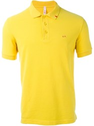 Sun 68 Logo Polo Shirt Yellow And Orange