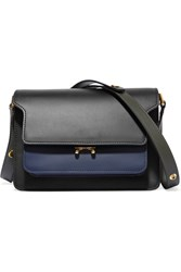 Marni Trunk Leather Shoulder Bag Black