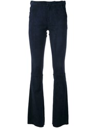 Drome Flared Trousers Blue