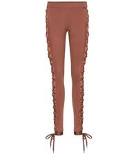 Fenty Puma By Rihanna Boxing And Bomber Lace Up Leggings Brown