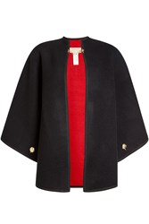 Burberry Shoes And Accessories Wool Cape With Cashmere Black