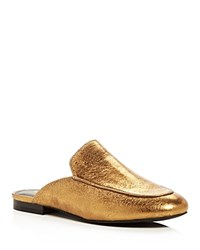 Kenneth Cole Wallice Metallic Mules Gold