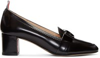 Thom Browne Black Bow Loafer Heels