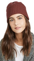 Madewell Fine Knit Cuffed Beanie Maple Syrup Multi