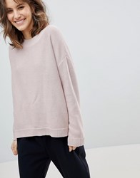 Selected Eco Organic Cotton High Neck Jumper Pink