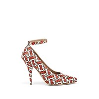 Burberry Wiltkin Leather Ankle Strap Pumps Multi