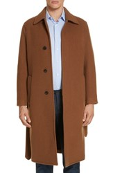 Eidos Napoli Wool And Cashmere Trench Coat Tan