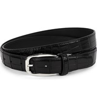 Brioni Crocodile Leather Belt Black