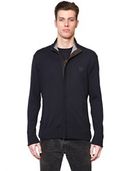 Paul And Shark Fit Zip Up Wool Sweater