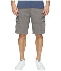 Lucky Brand Core Cargo Shorts Charcoal Grey Men's Shorts Gray