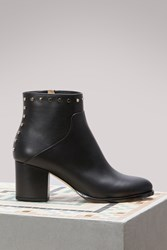 Jimmy Choo Melvin 65 Leather Ankle Boots Black