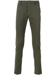 Dondup Slim Fit Chinos Green