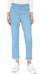 Marques Almeida High Waist Skinny Jeans Stretchy Light Blue