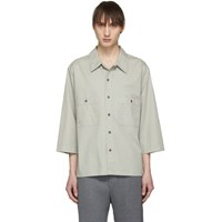 Christophe Lemaire Grey Military Three Quarter Sleeve Shirt