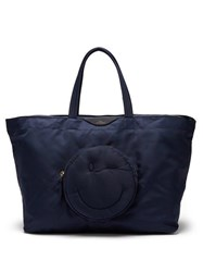 Anya Hindmarch Chubby Wink Nylon Tote Bag Blue