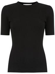 Lilly Sarti Ribbed T Shirt Black