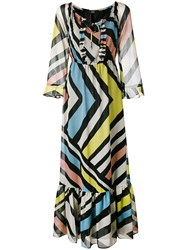 Steffen Schraut Striped Long Dress Black