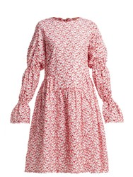 Shrimps Peggy Broderie Anglaise Cotton Blend Dress Red White
