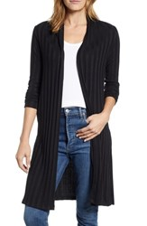 Bobeau Rib Knit Duster Black