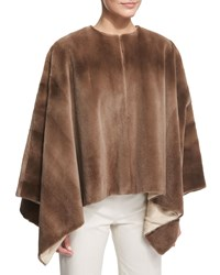 Rongar Mink Fur Poncho Pastel Women's The Row