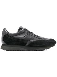 Santoni Panelled Sneakers Black