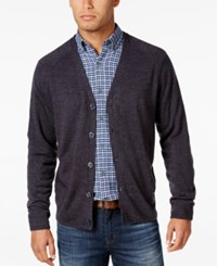 Weatherproof Vintage Men's Big And Tall Soft Touch Cardigan Only At Macy's Light Charcoal