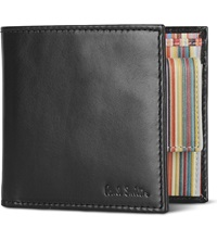 Paul Smith Interior Multi Striped Billfold Wallet With Coin Pocket Black