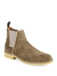 Aquatalia By Marvin K Oscar Waterproof Suede Chelsea Boots Taupe