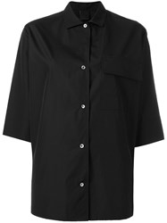 Aspesi 3 4 Sleeves Shirt Black