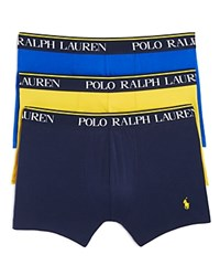 Polo Ralph Lauren Stretch Comfort Boxer Briefs Pack Of 3 Yellow Navy Royal