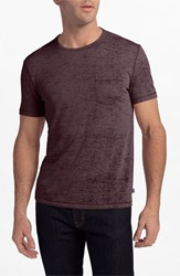 Men's John Varvatos Star Usa Burnout Trim Fit T Shirt Oxblood